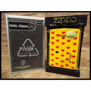 ジッポー(ZIPPO)の限定 初回廃盤品 新品 hide ヒデ 2002年製 イエローハート Zippo(タバコグッズ)