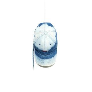 PEACEMINUSONE - PEACEMINUSONE キャップ DENIM BLEACH CAP BLUE