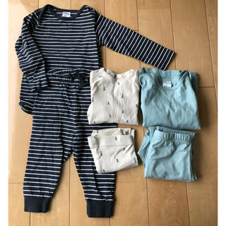 エイチアンドエム(H&M)のH&M シャツパンツ上下3セット(肌着/下着)