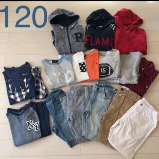 ユニクロ(UNIQLO)の男の子 ブランド秋冬服まとめ売り 120 ZARA  ラルフローレン(Tシャツ/カットソー)