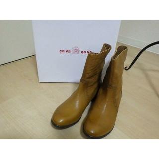 サヴァサヴァ(cavacava)の大幅お値下げ*cava cava* 本革ショートブーツ 未使用 25.5cm(ブーツ)