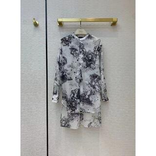 ディオール(Dior)の【Dior】2021SS新作 プリント チュニック ロングシャツ(シャツ/ブラウス(長袖/七分))