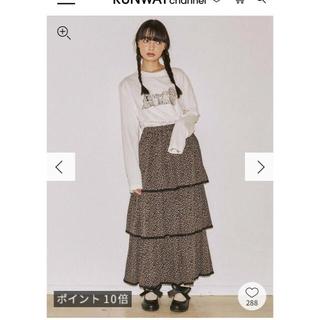 メリージェニー(merry jenny)のfloral ティアードスカート 11/30までお値下げ(ロングスカート)