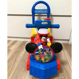 ディズニー(Disney)のミッキー手押し車^ ^乗り物玩具ディズニー(手押し車/カタカタ)