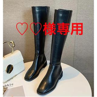♡♡様 専用 24 ブラック(ブーツ)