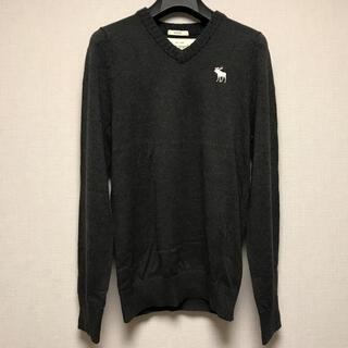 アバクロンビーアンドフィッチ(Abercrombie&Fitch)のAbercrombie&Fitch  ムース刺繍 Vネック セーター M(ニット/セーター)