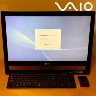 ソニー(SONY)の【送料込・美品】VAIO L 24インチ VPCL11AFJ(テレビ視聴可)(デスクトップ型PC)