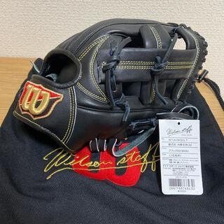 ウィルソン(wilson)の美品 即戦力Wilson DL型 硬式内野手用 サイズ8 型付済み グラブ袋付き(グローブ)