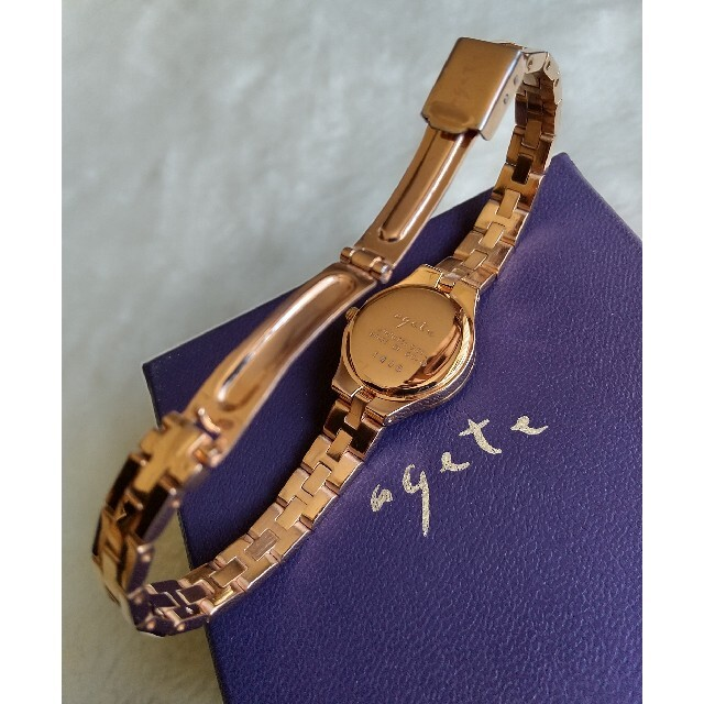 agete(アガット)のアガット腕時計 agete 1Pダイヤレディースクォーツ レディースのファッション小物(腕時計)の商品写真