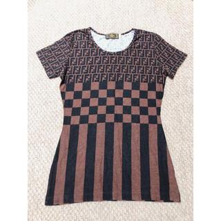フェンディ(FENDI)の〔FENDI〕フェンディ ズッカ柄Tシャツ(Tシャツ(半袖/袖なし))