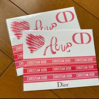 クリスチャンディオール(Christian Dior)の❤️ ディオール ステッカー DIOR シール 2シート(シール)