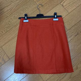アンレリッシュ(UNRELISH)のタイトスカート オレンジ(ミニスカート)