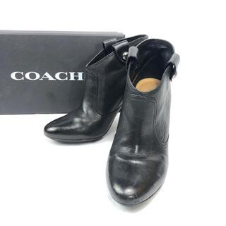 コーチ(COACH)のCOACH コーチ レザー ショート ブーツ レザー ハイヒール(ブーツ)