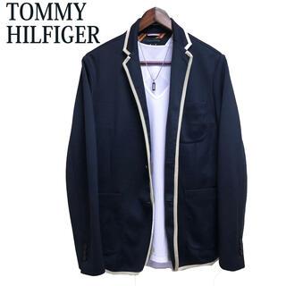 トミーヒルフィガー(TOMMY HILFIGER)のTOMMY HILFIGER テーラードジャケット 紺色 パイピングジャケット(テーラードジャケット)