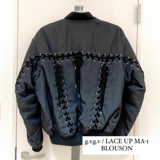 g.v.g.v / LACE UP MA-1 BLOUSON