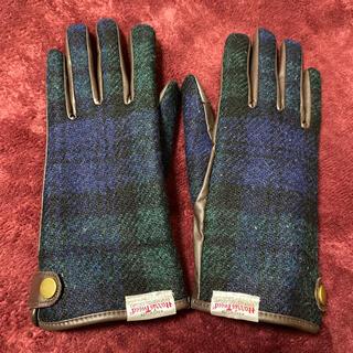 シマムラ(しまむら)の【最終お値下げ‼️】緑チェック手袋 Harris tweed(手袋)