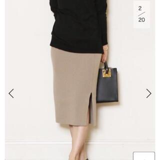 ドゥーズィエムクラス(DEUXIEME CLASSE)のニットスカート ベージュ (ロングスカート)