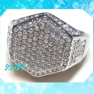 もしかしてダイヤ!? ラグジュアリーシルバーリング 指輪 czダイヤモンド(リング(指輪))