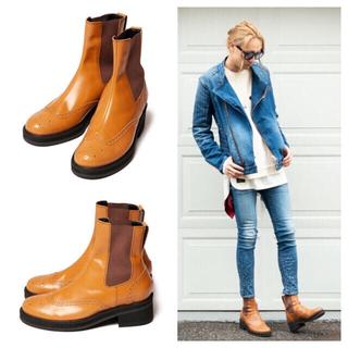 グラム(glamb)の新品/グランジロック系 レザーブーツ/グラム glamb/25㎝ 24.5㎝/①(ブーツ)
