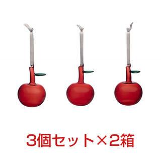イッタラ(iittala)のイッタラ オーナメント アップル 3個セット×2箱 オイバ トイッカ リンゴ(その他)