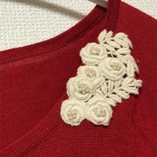 アナトリエ(anatelier)のAnatelier 刺繍付きセーター(ニット/セーター)