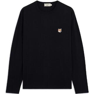 MAISON KITSUNE' - 新品 メゾンキツネ 黒L ダブルフォックス長袖tシャツ