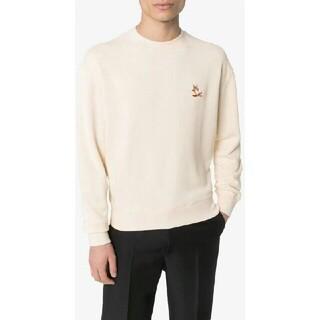 メゾンキツネ(MAISON KITSUNE')の新品 メゾンキツネ  白L  長袖(Tシャツ/カットソー(七分/長袖))
