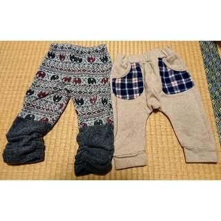 ニシマツヤ(西松屋)のおまとめ売り 裏起毛ズボン80サイズ(パンツ)