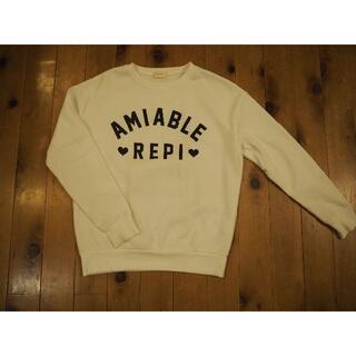 レピピアルマリオ(repipi armario)のレピピアルマリオM 裏起毛トレーナー(白(Tシャツ/カットソー)