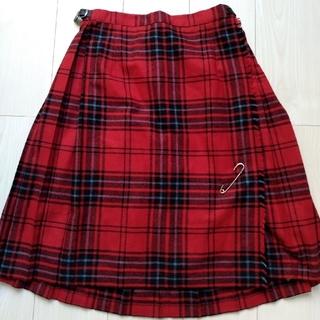 オニール(O'NEILL)の O'NEIL OF DUBLIN 赤 タータンチェック 巻きスカート(ひざ丈スカート)