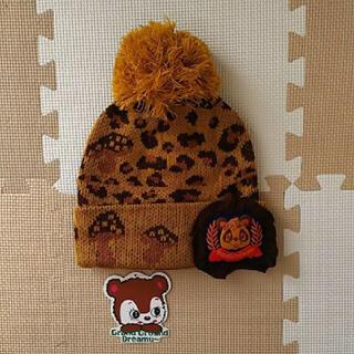 グラグラ(GrandGround)の53~55cm 新品  グラグラ レオパード ニット帽   定価3045円  (帽子)