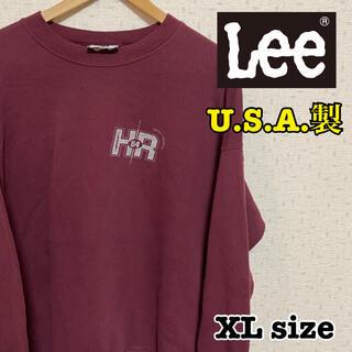 リー(Lee)の高円寺ビンテージ古着 旧タグ USA製 Lee トレーナー スウェット 90s(スウェット)