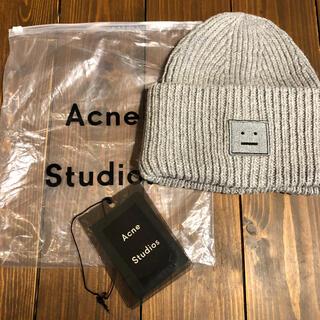 アクネ(ACNE)の新品未使用❤️acne studiosニット帽グレー(ニット帽/ビーニー)