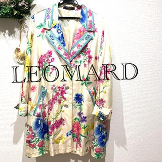 レオナール(LEONARD)のLEOMARD シルクコート 美品❣️(トレンチコート)