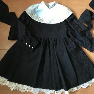 シャーリーテンプル(Shirley Temple)のシャーリー 100 つけ襟付きドレス ブラック(ドレス/フォーマル)