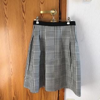 ルネ(René)のRene チェック スカート ルネ 美品(ひざ丈スカート)
