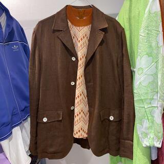 ロキエ(Lochie)の90年代  リネンテーラードジャケット 古着 (テーラードジャケット)