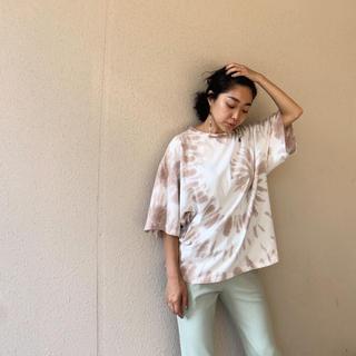 SeaRoomlynn - SeaRoomlynn tiedyeコットンLOOSE Tシャツ ブラウン