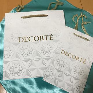 コスメデコルテ(COSME DECORTE)のデコルテ ショッパー 紙袋 2枚セット(ショップ袋)