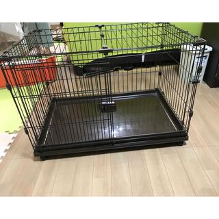 アイリスオーヤマ(アイリスオーヤマ)のアイリスオーヤマ小型犬用ケージ 屋根付き(かご/ケージ)
