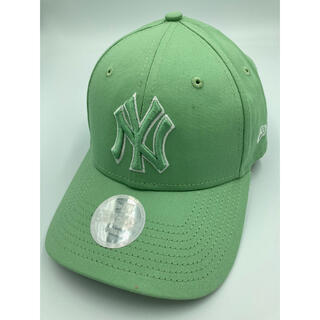 ニューエラー(NEW ERA)のニューエラ キャップ NY ヤンキース オールグリーン 緑 woman カーキ(キャップ)