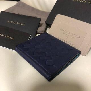 ボッテガヴェネタ(Bottega Veneta)の美品 BOTTEGA VENETA ボッテガヴェネタ コインケース ネイビー(コインケース/小銭入れ)