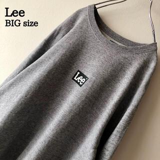 リー(Lee)の【ゆるだぼ】Lee シンプル ワンポイント ボックスロゴ スウェット トレーナー(スウェット)