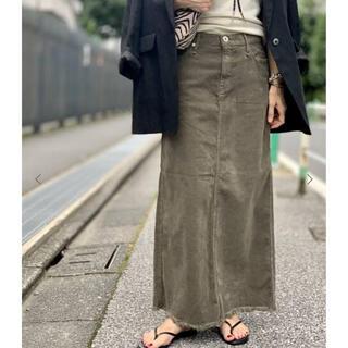 アパルトモンドゥーズィエムクラス(L'Appartement DEUXIEME CLASSE)のUPPER HIGHTS corduroy long スカート(ロングスカート)