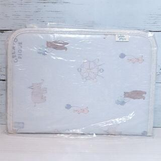 gelato pique - ジェラートピケ ピケランド柄タテ型母子手帳ケース ブルー 青