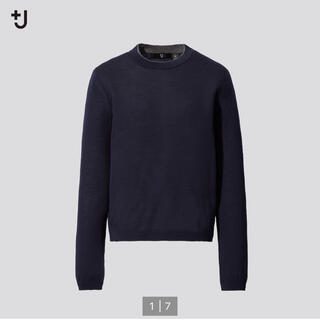 ユニクロ(UNIQLO)のUNIQLO ジルサンダー +J ファインゲージカシミヤクルーネックセーター(ニット/セーター)