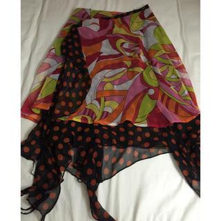 エルロデオ(EL RODEO)のリバーシブル巻きスカート(ひざ丈スカート)