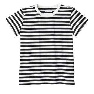 agnes b. - 【agnes b.】J008 TS ボーダーTシャツ ホワイト ブラック