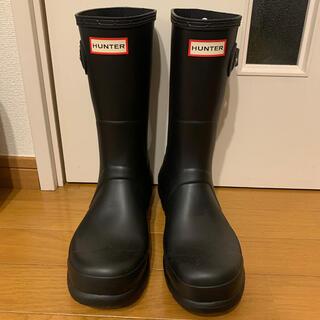 ハンター(HUNTER)のHUNTER ハンター レインブーツ black  UK9 EU43 US10(長靴/レインシューズ)