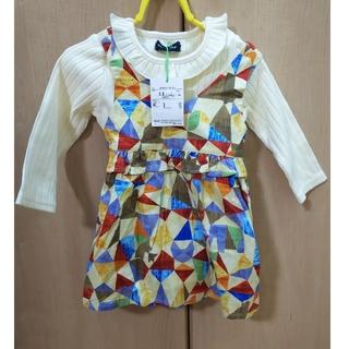 クレードスコープ(kladskap)のクレードスコープ ワンピース 長袖Tシャツ  80(ワンピース)